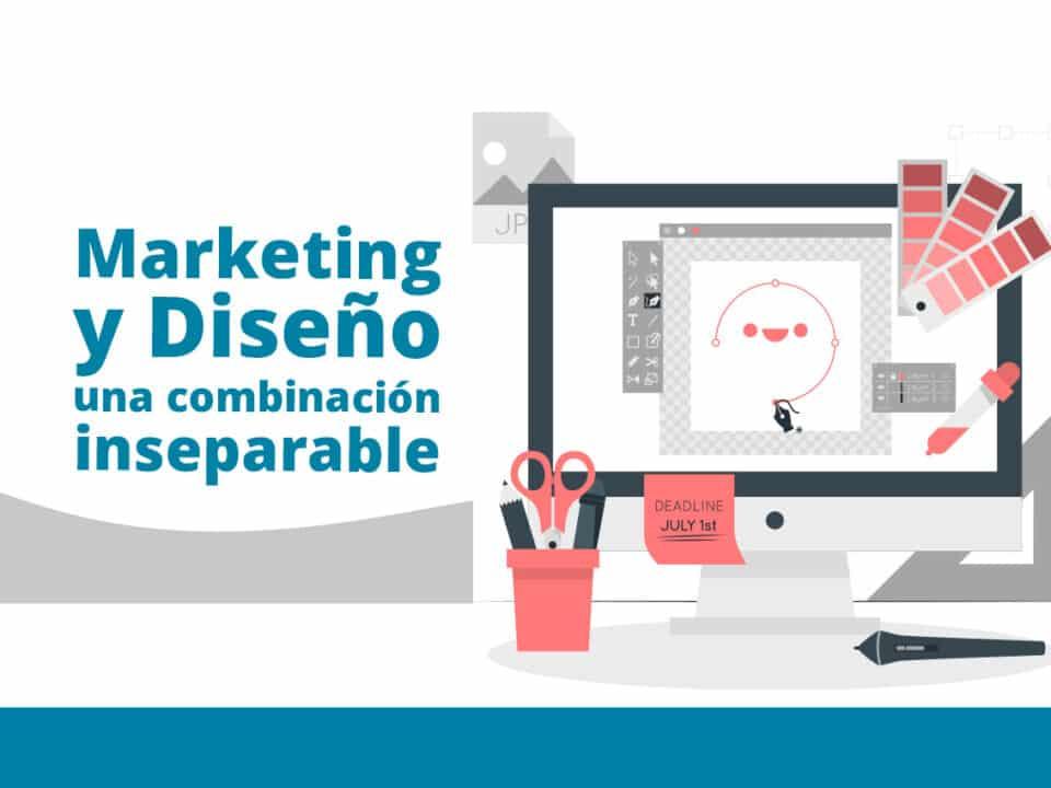marketing y diseño gráfico van unidas de la mano en toda estrategia digital