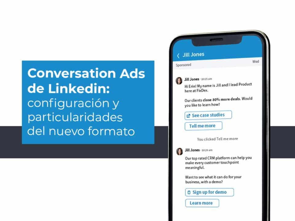 cómo funcionan los conversations ads de linkedin